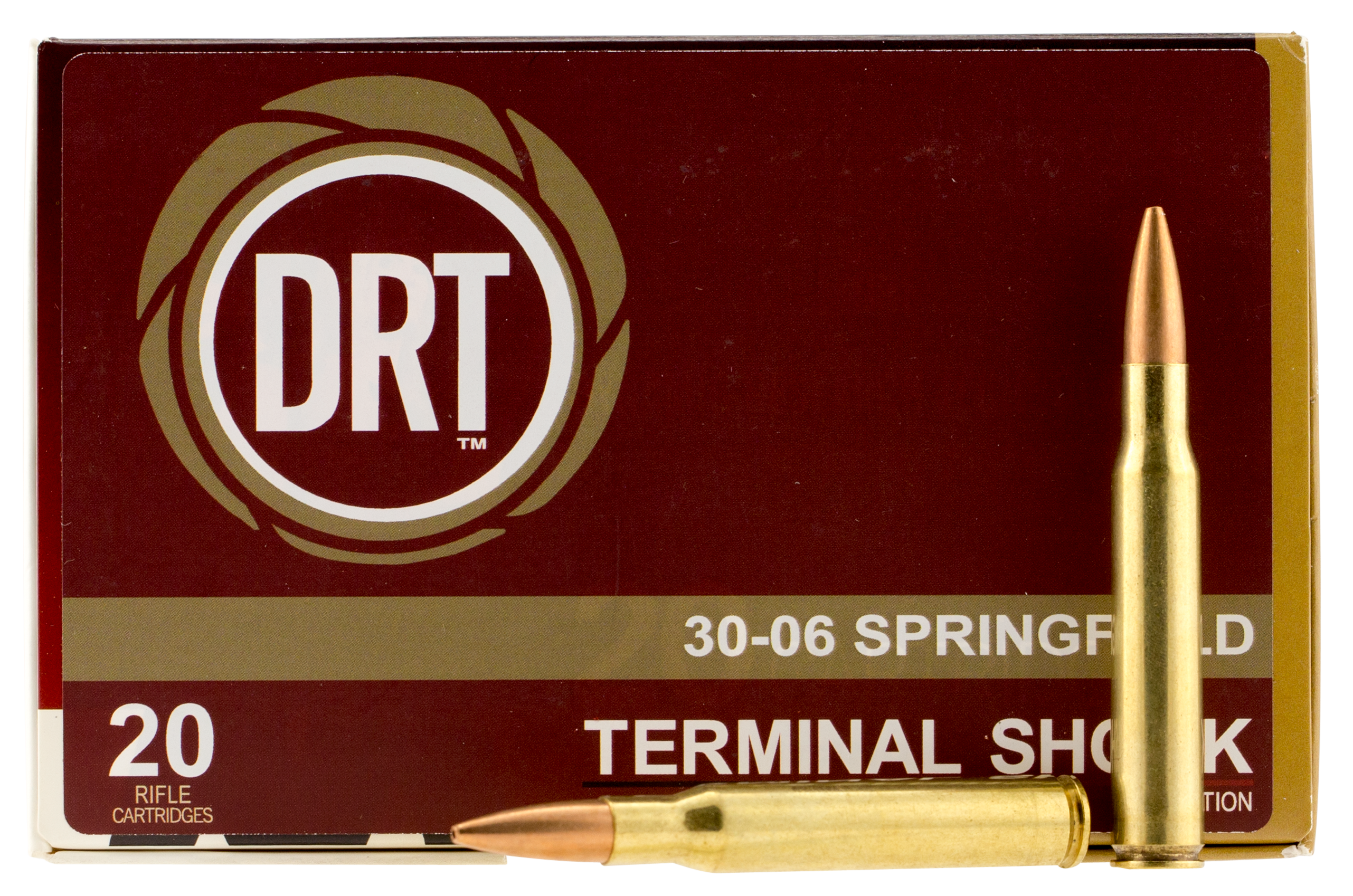 Dynamic Research Tech 00108 Terminal Shock 30-06 Springfield 150 GR Hollow Point Boat Tail 20 Bx/ 50 Cs