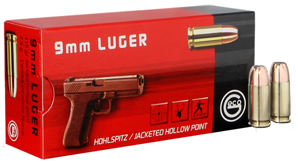 GECO 270740050 9mm Luger 115 GR JHP 50 Bx/ 20 Cs
