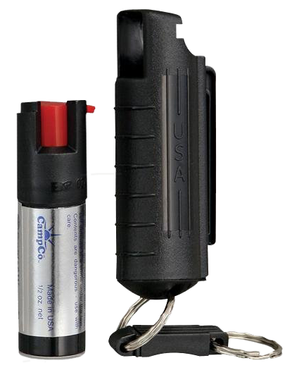 SW Pepper Spray 1403 Pepper Spray 15% Plastic Keychain Case .5 oz Black