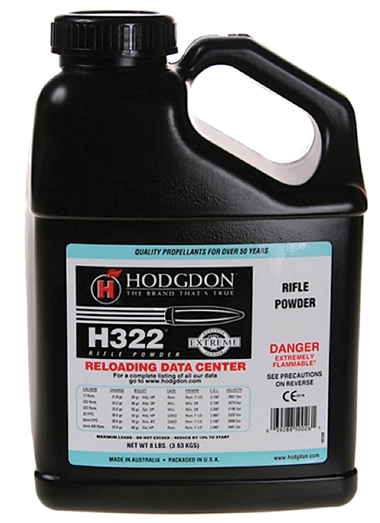 Hodgdon 3228  Extreme H322 Rifle 8 lbs 1 Canister