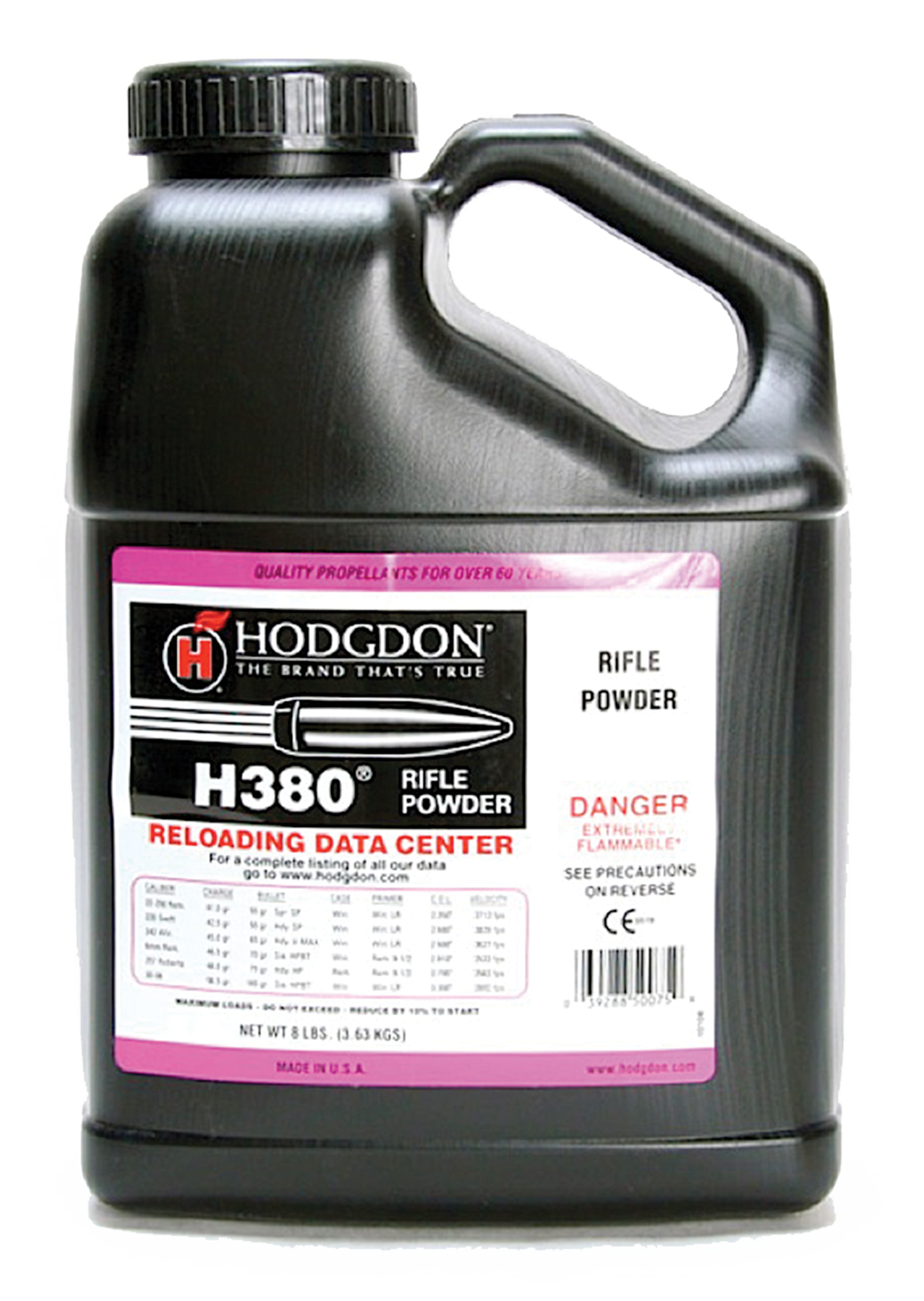 Hodgdon 3808 Spherical H380 Rifle 8 lbs 1 Canister