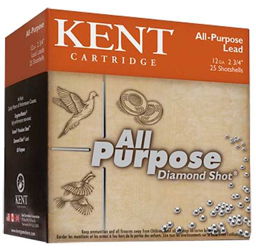 Kent Cartridge K122GT367 All Purpose Diamond Shot 12Ga 2.75