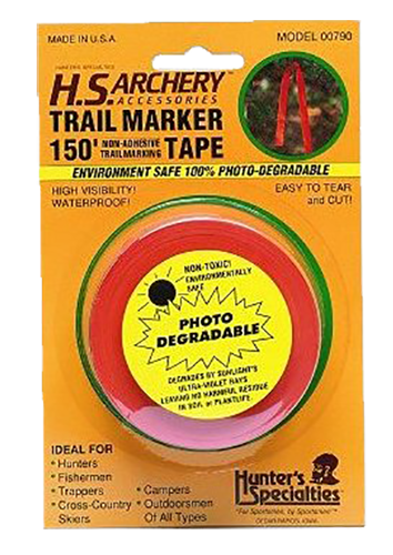 Hunters Specialties 00790 Trail Marker Tape 150 ft Roll Orange