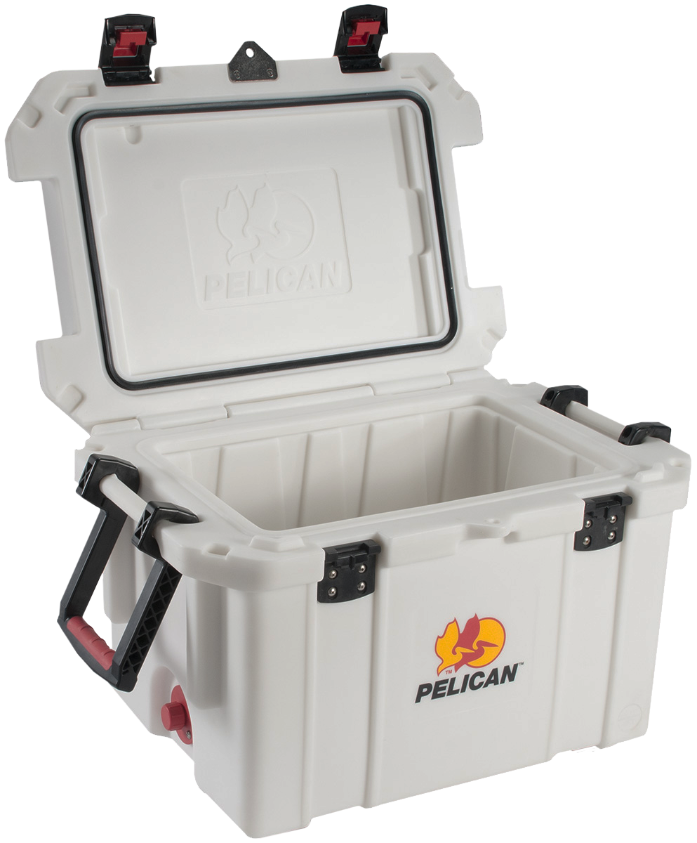 Pelican ProGear 3245QMCWHT Progear Cooler 45Qt Elite Sloped Drain Fish Scale Wht