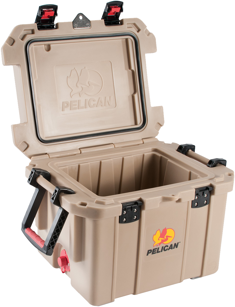 Pelican ProGear 35QTTAN Cooler 35Qt Elite Sloped Drain Fish Scale Tan