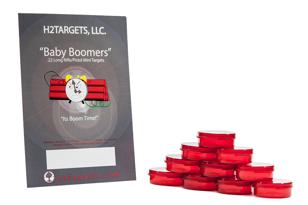 H2Targets H2T4466 Exploding Targets Baby Boomers .22LR 10 Pk/5Cs