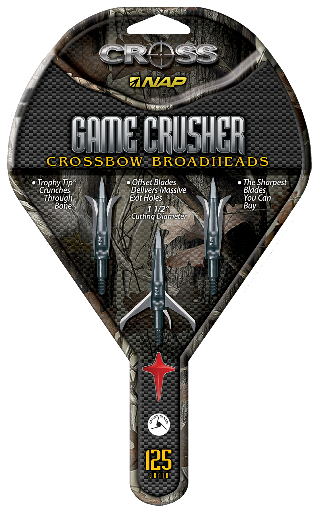 Barnett Crossbows 16122 Gamecrusher Broadhead Mechanical Black/Orange