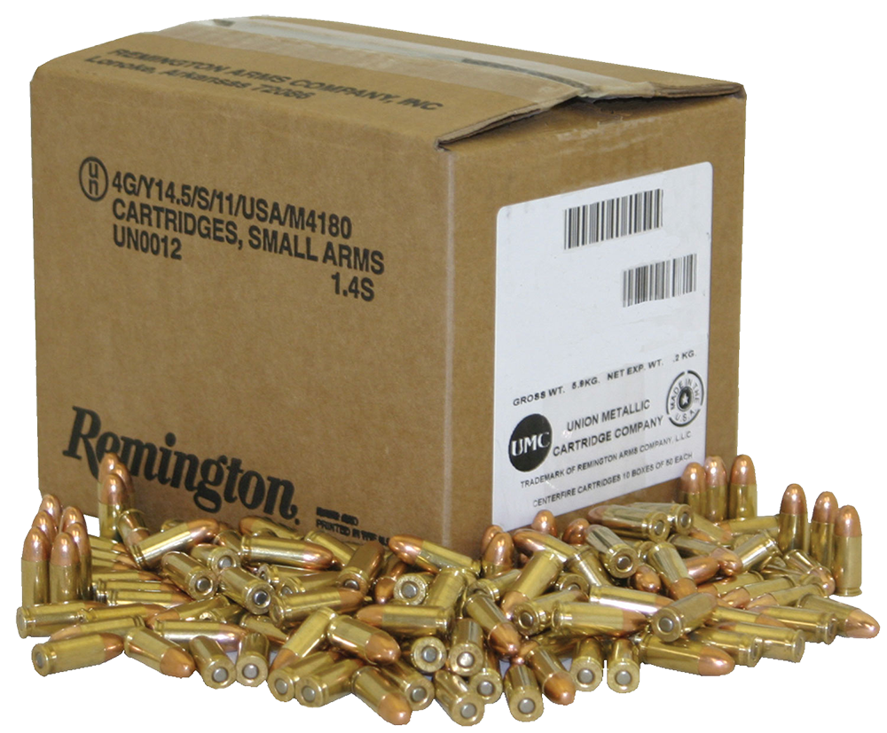 Remington Accessories L9MM3BP UMC 9mm Metal Case 115GR 1000 Rounds Per Case