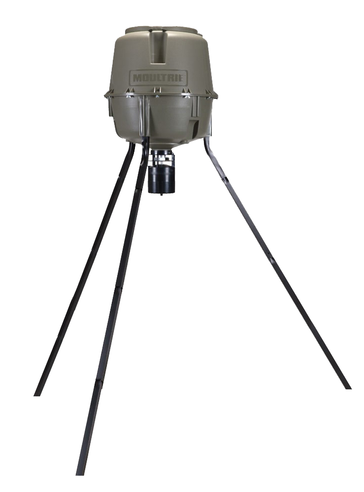 Moultrie MFG12607 30 Gallon Pro-Lock Tripod Feeder Holds Up To 200lbs