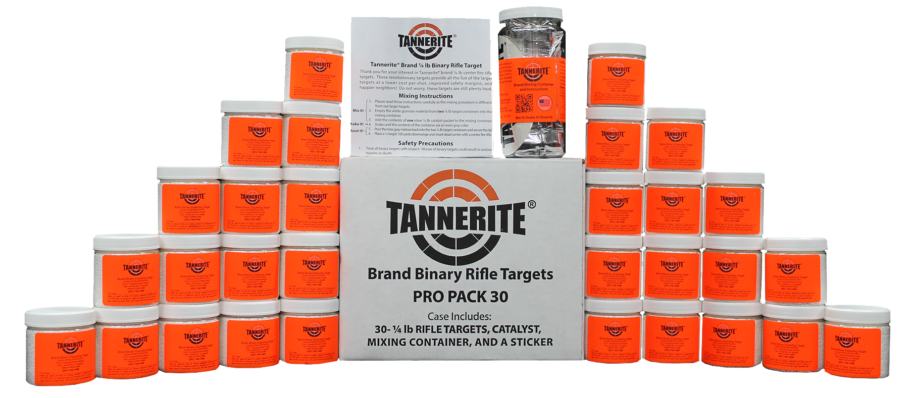 Tannerite PP30 Exploding Target 1/4 lbs 30 Count Pro Pack
