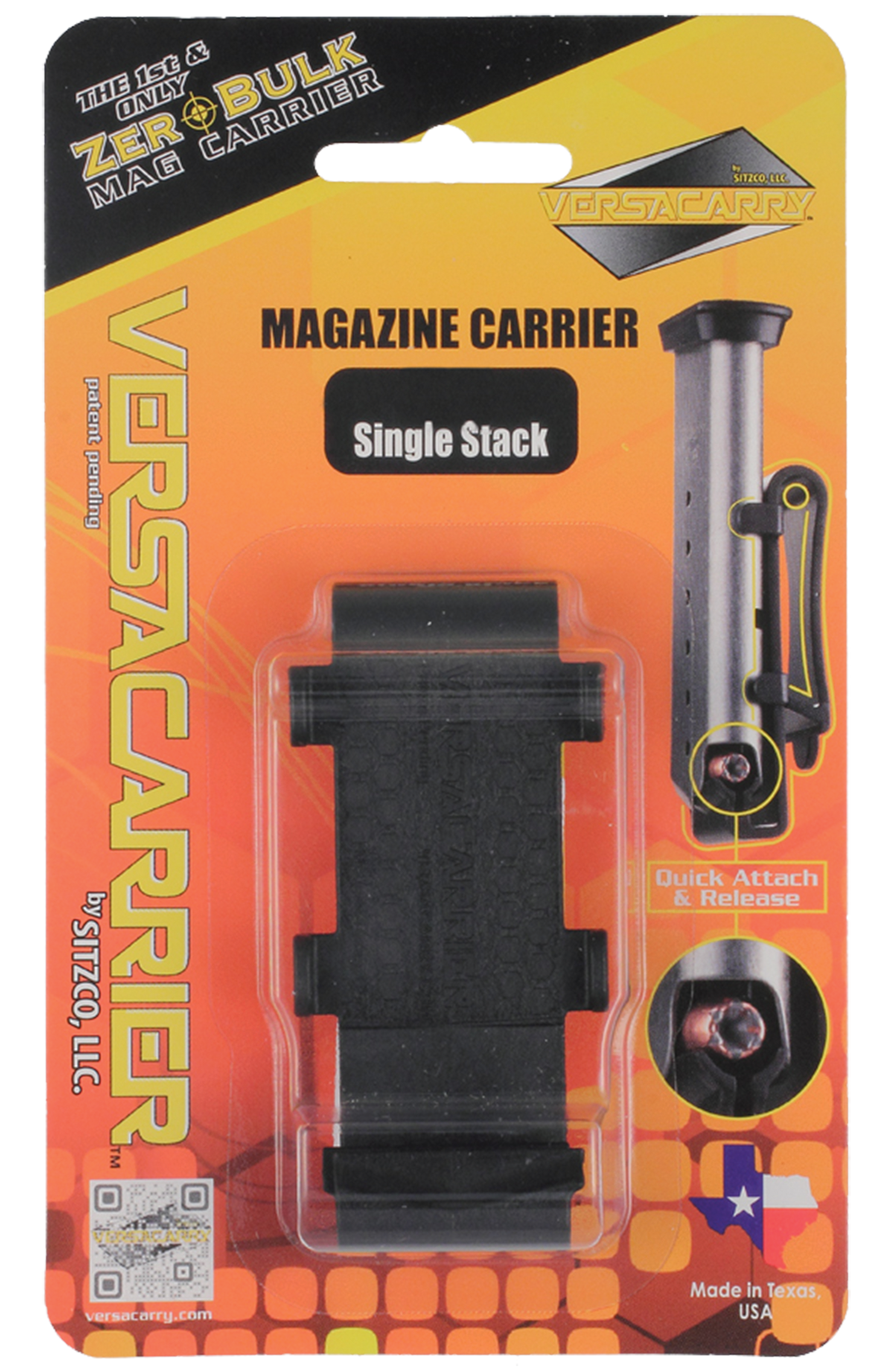Versacarry 40DS Versacarrier Magazine Carrier Double Stack 40 Smith & Wesson (S&W) Plastic Black