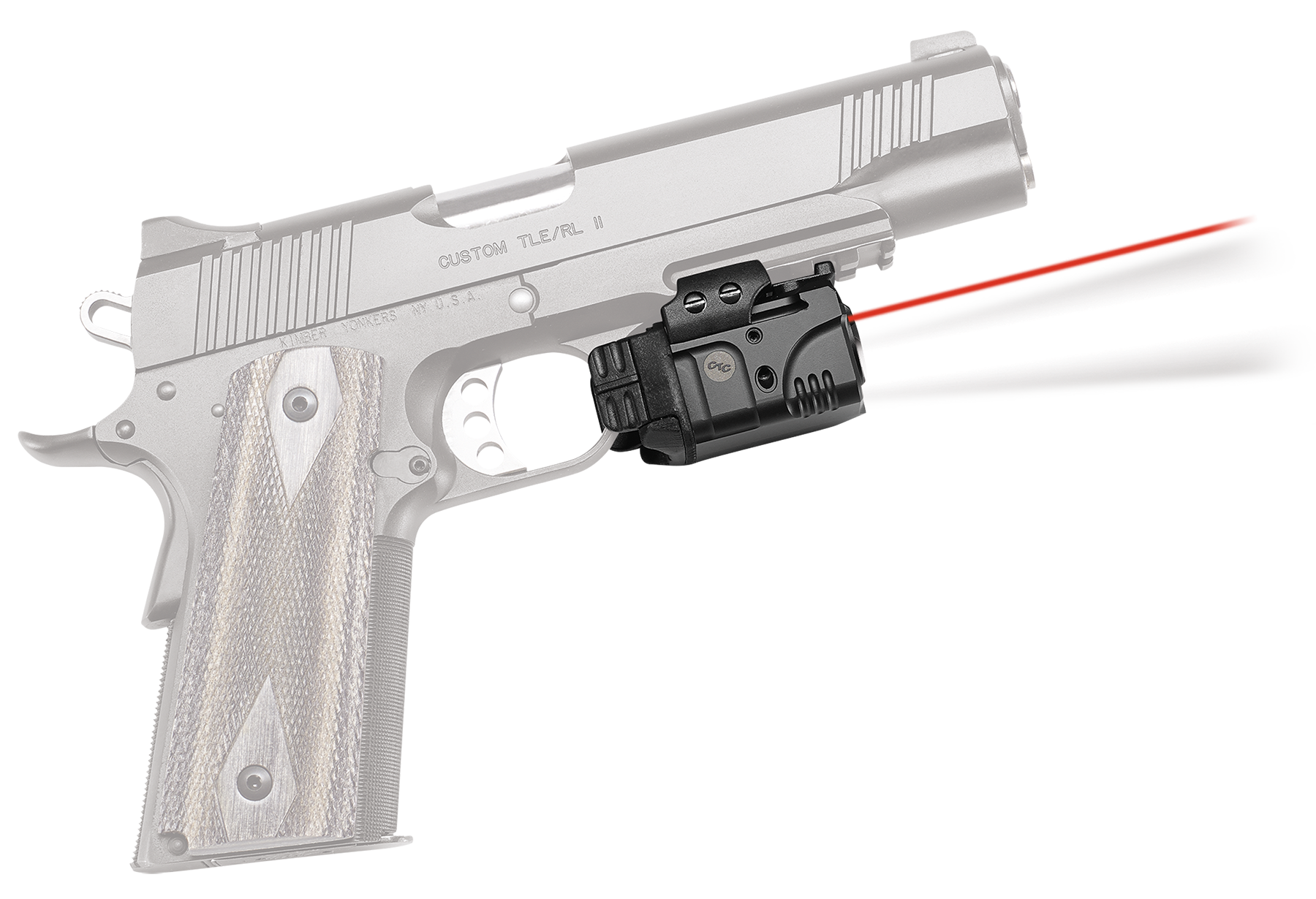 Crimson Trace CMR205 Rail Master Pro Universal Red Laser Sight and Tactical Light w/Picatinny Rail