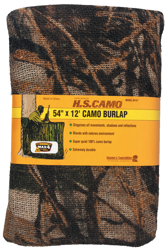 HuntersSpecial 04137 Blind Burlap Realtree Max-4 12ftx54in