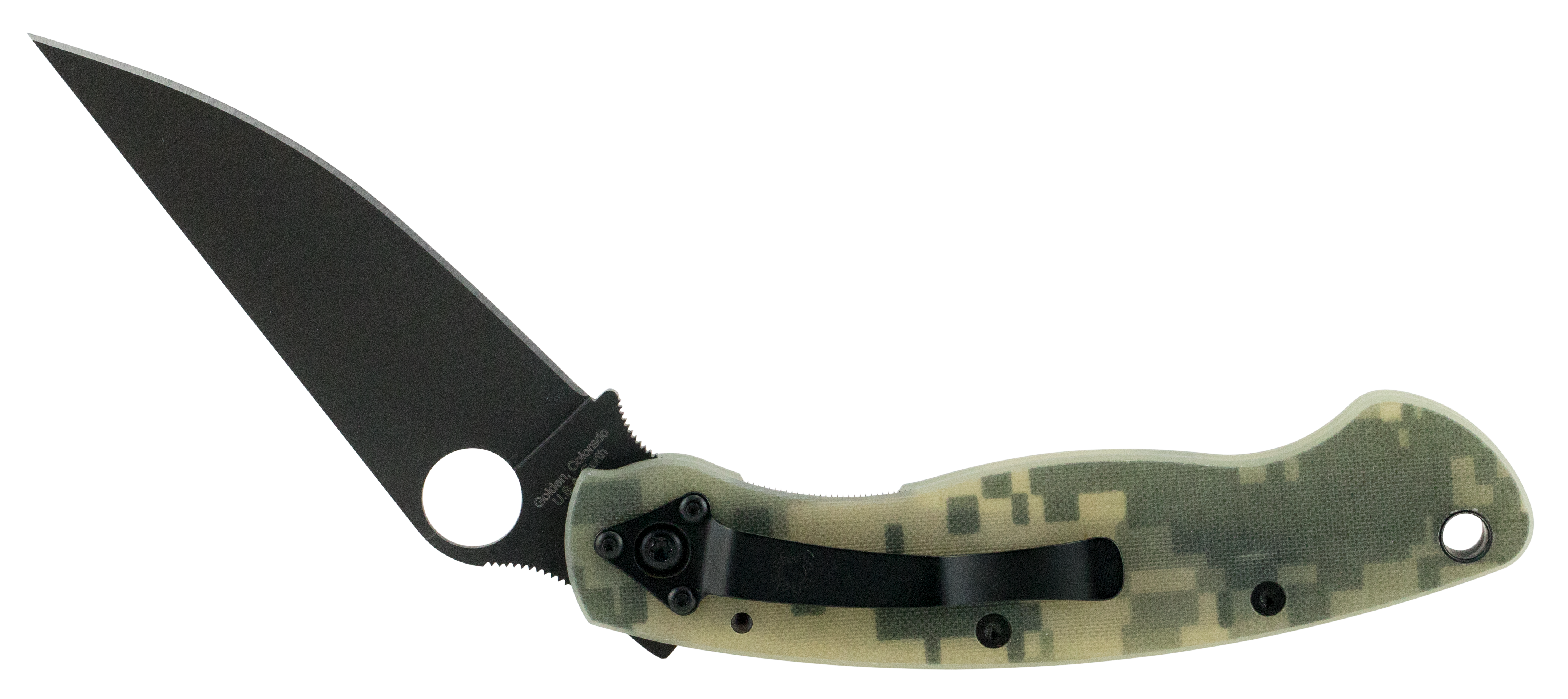 Spyderco C36GPCMOBK C36 MIlitary Folder 4
