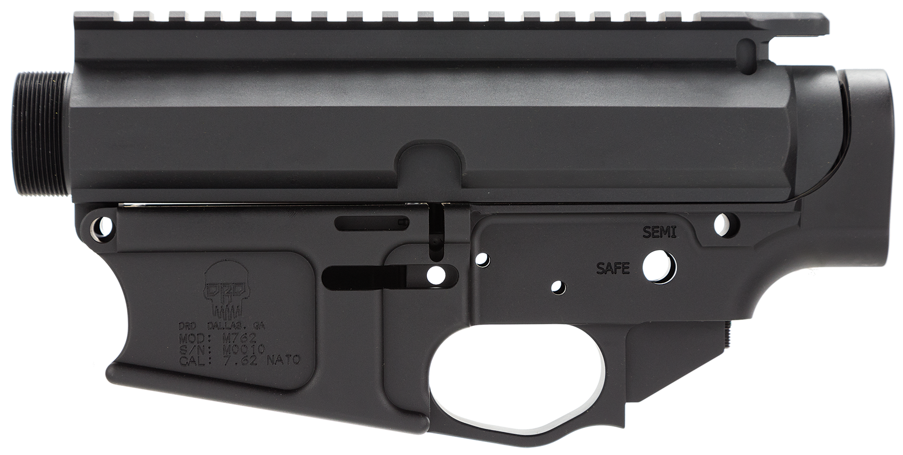 DRD Tactical G762REC Upper/Lower Stripped 7.62 NATO HK G3 Black