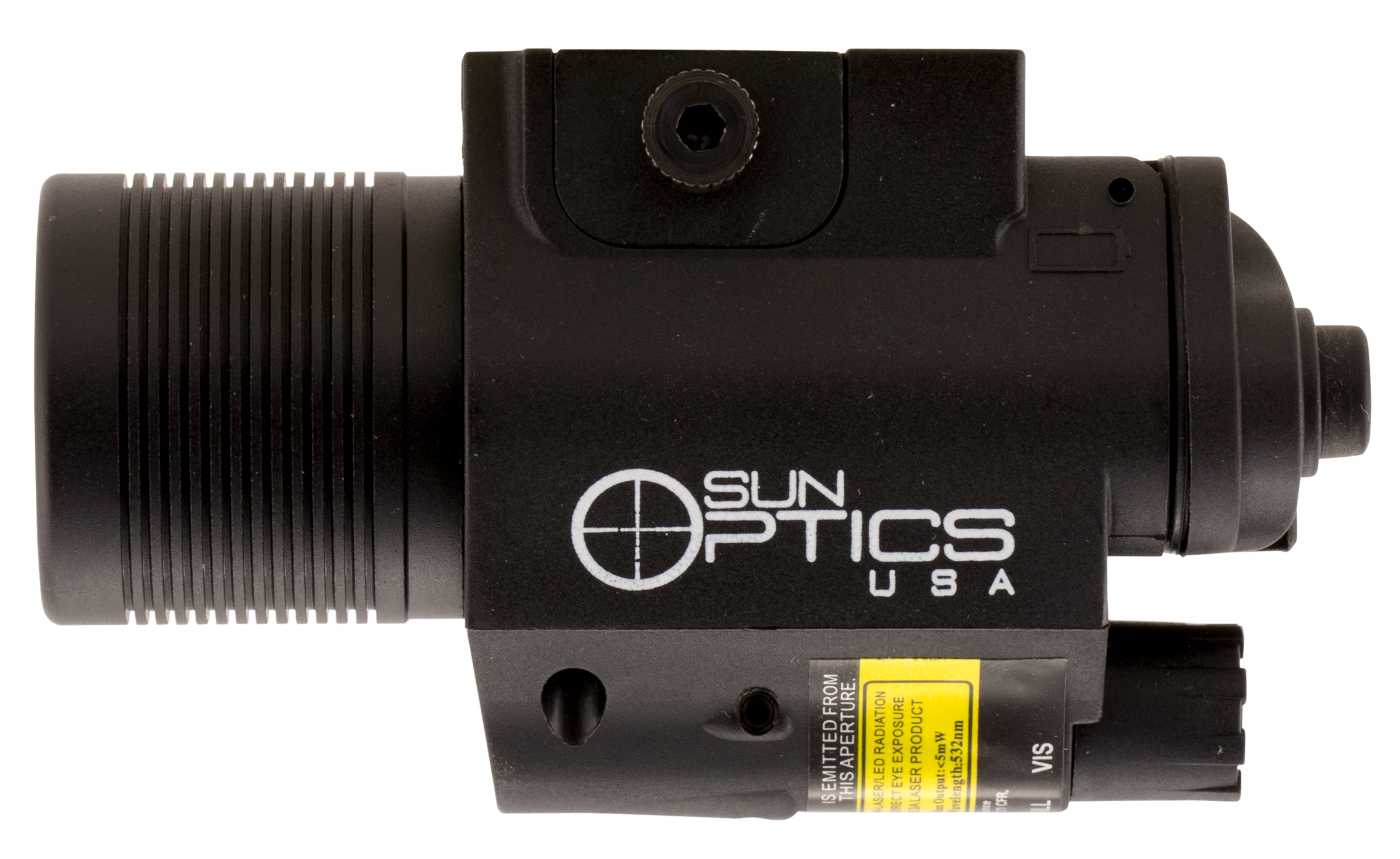 Sun Optics CLFCLG Illuminated Laser/Light Green Laser Any with Rail Picatinny/Mil-Spec/Weaver
