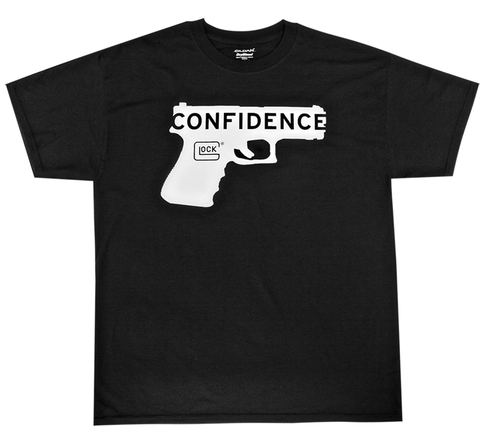 Glock AA44002 Short Sleeve Confidence T-Shirt Medium Cotton/Polyester White/Blk