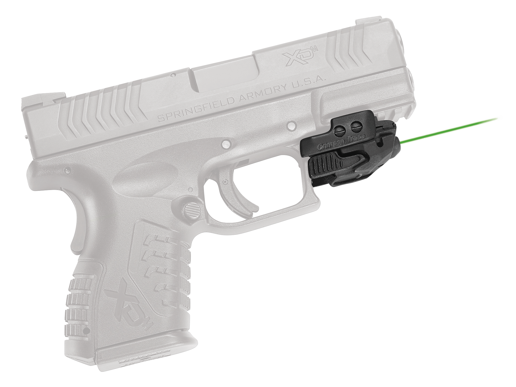 Crimson Trace CMR206 Rail Master Universal Green Laser Integrated Rail Mount