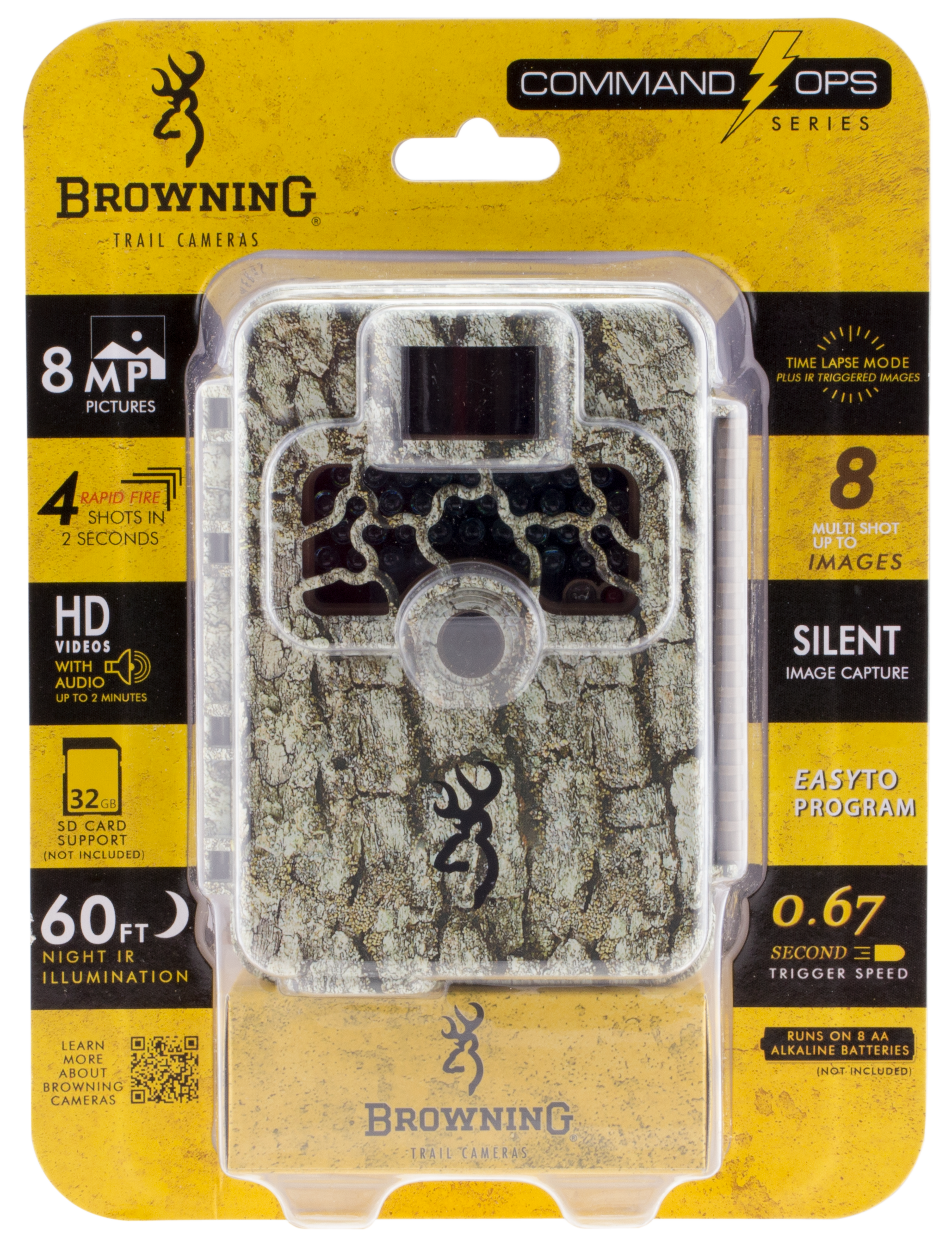 Browning Trail Cameras 4 Command Ops Trail Camera 8 MP Camo