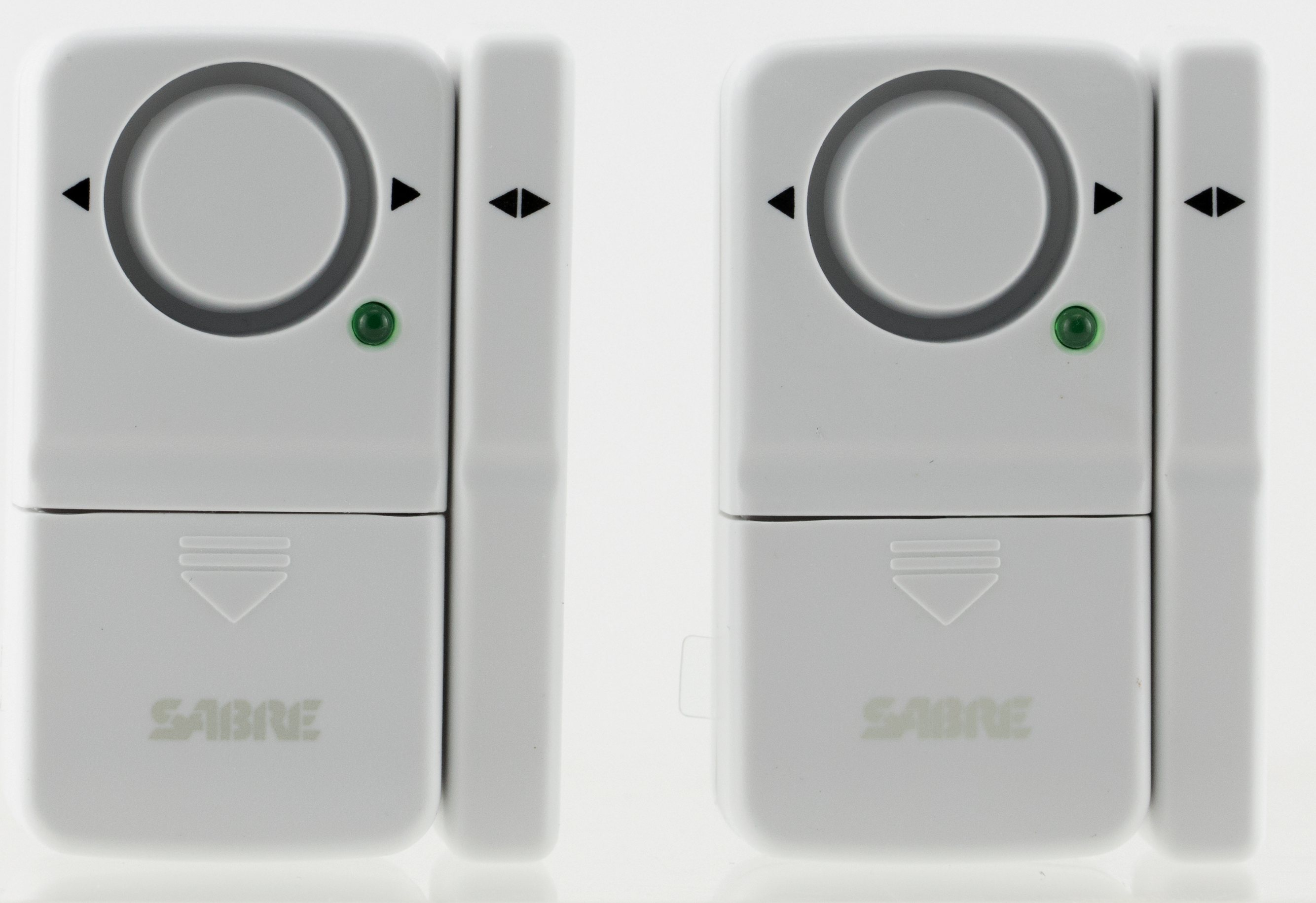 Sabre HSDWA2 Home Series Door Alarm 2 Pack 2-7 lbs 750 ft 120 White