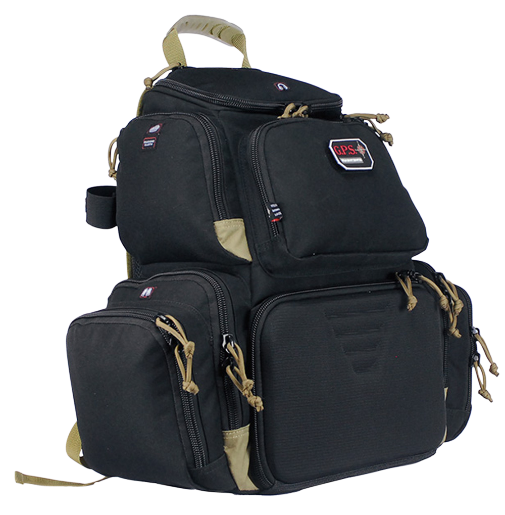 G*Outdoors 1711BPBT Handgunner Range Bag/Backpack 600D Polyester 16