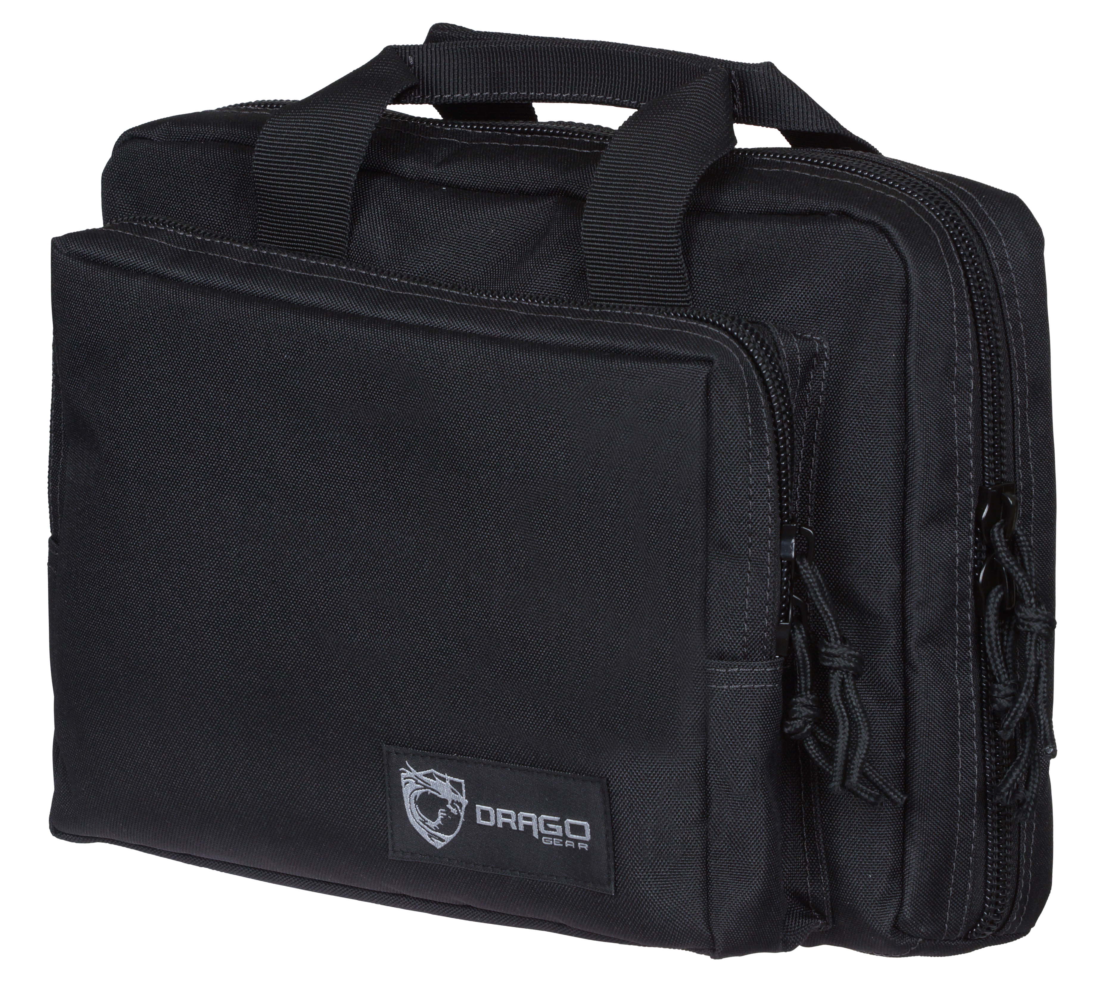 Drago Gear 12315BL Double Pistol Case 600D Polyester 12.5
