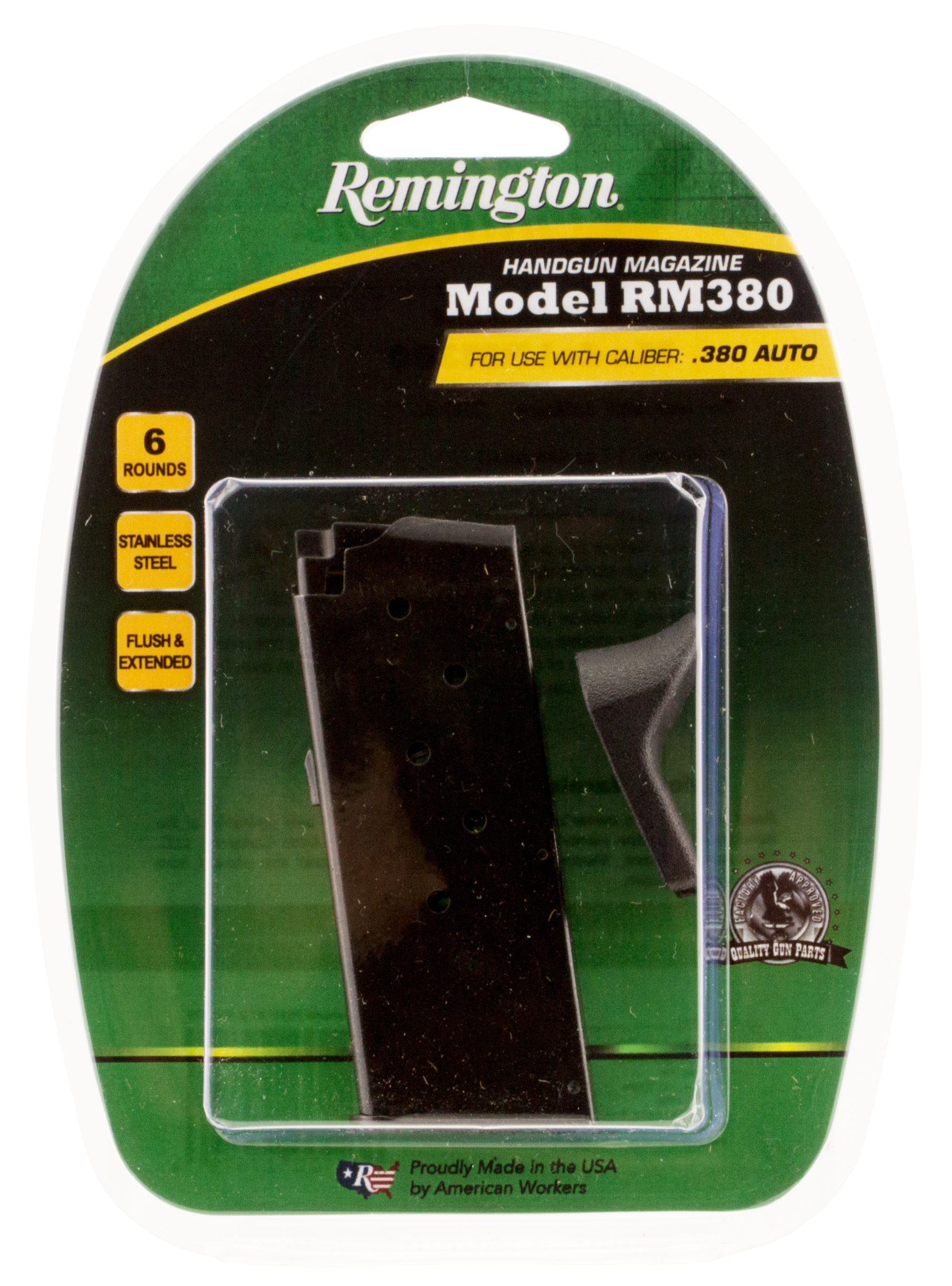 Remington Accessories 17679 RM380 380 Automatic Colt Pistol (ACP) 6 rd Black Finish