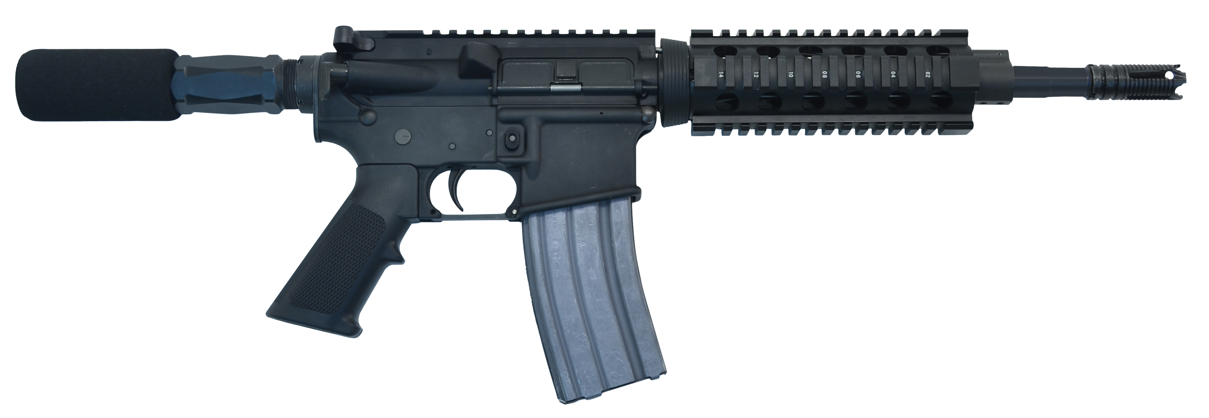 I.O. IODM15P10QR3 M215 Micro QR-10 AR Pistol Semi-Automatic 300 AAC Blackout/Whisper (7.62x35mm) 10