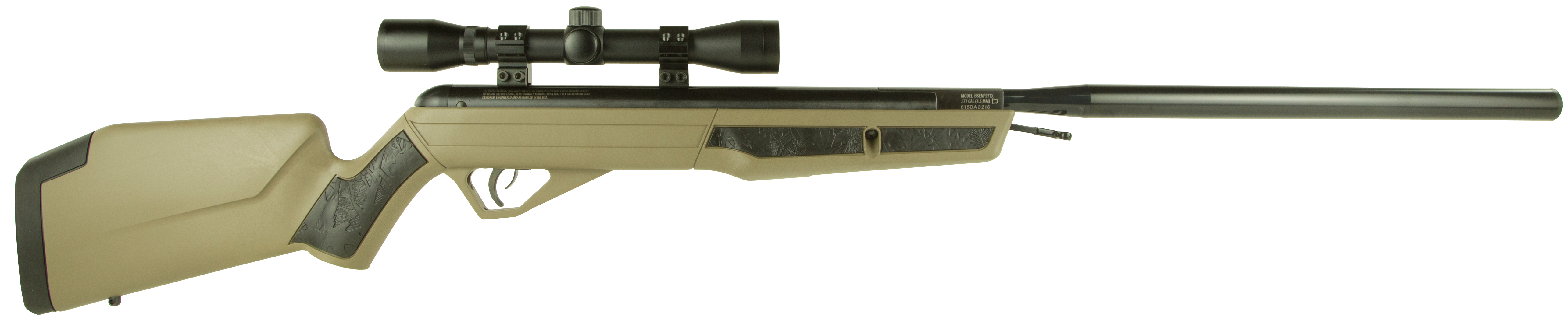 Benjamin BSSNP27TX Golden Eagle Air Rifle Break Open .177 Pellet Black/FDE
