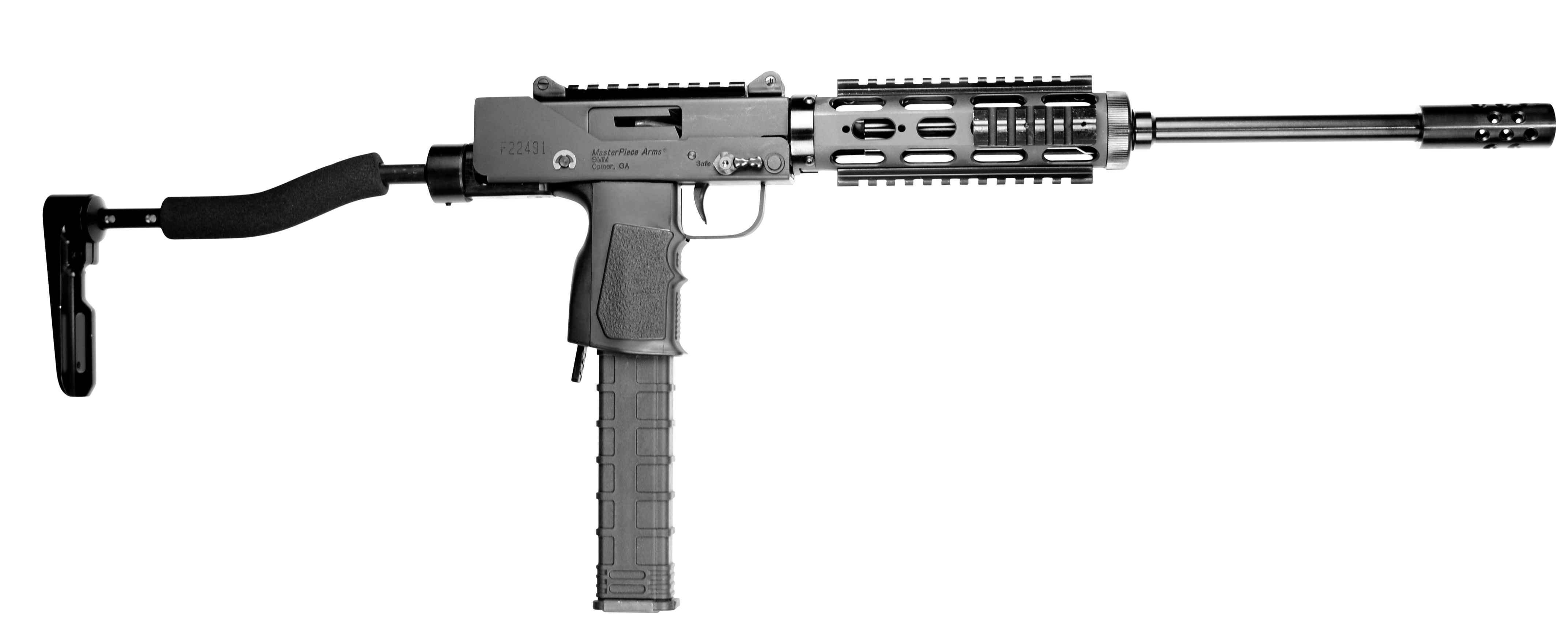 MasterPiece Arms 9300SST Defender Carbine Side Cocking TB Scope Mount Pistol Semi-Automatic 9mm 16