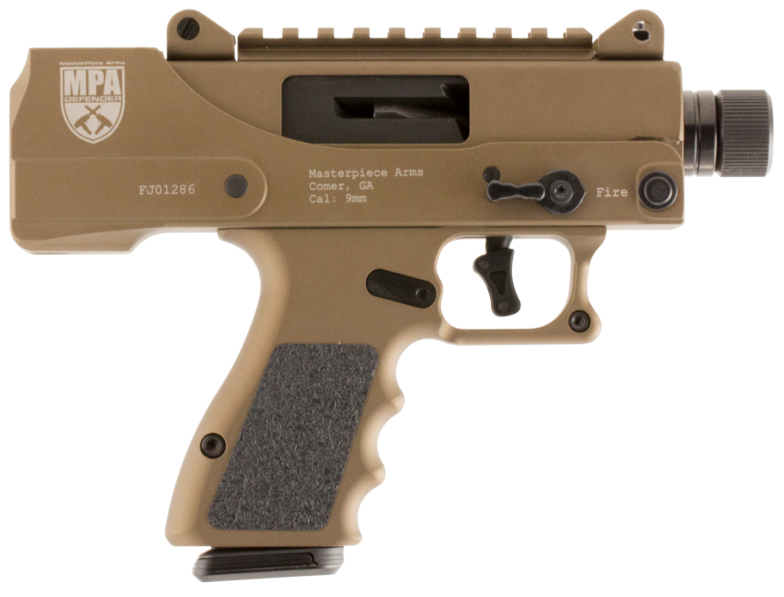 MasterPiece Arms 930DMG Defender 9mm Side Cocking TB Pistol Semi-Automatic 9mm 3.5