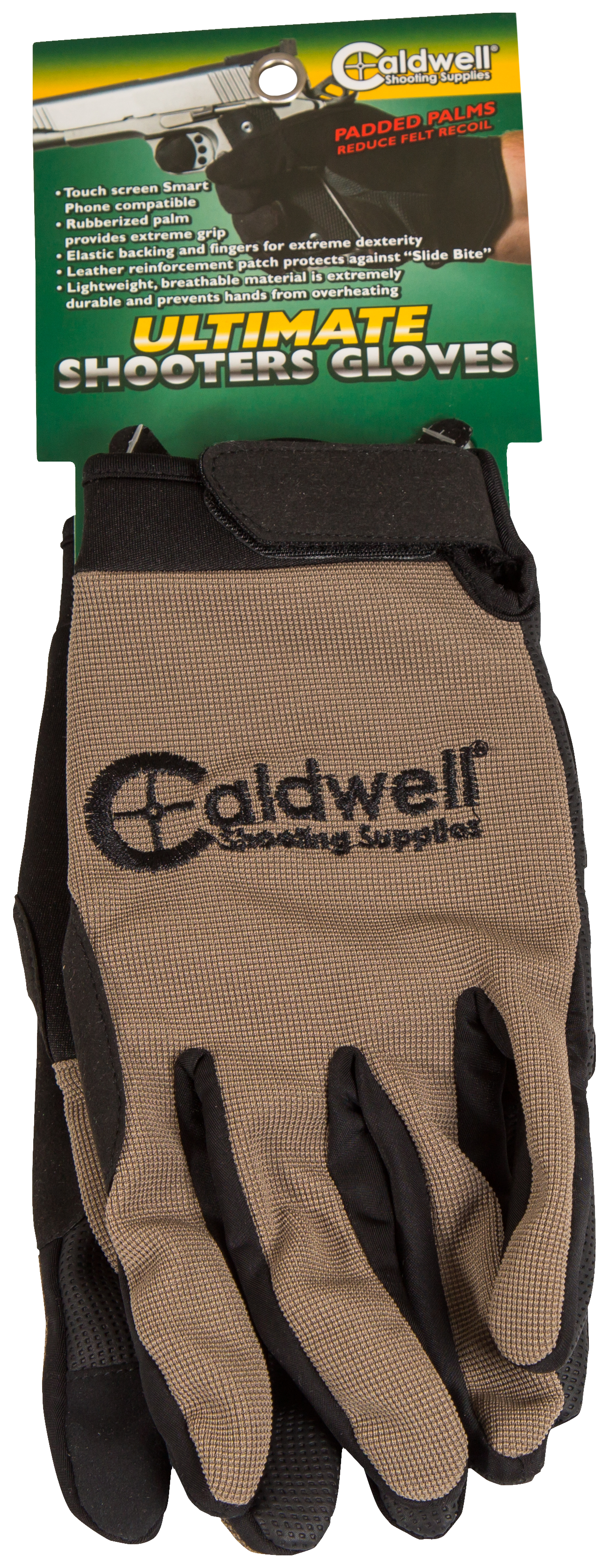 Caldwell 151293 Ultimate Shooting Gloves SM/MD Tan
