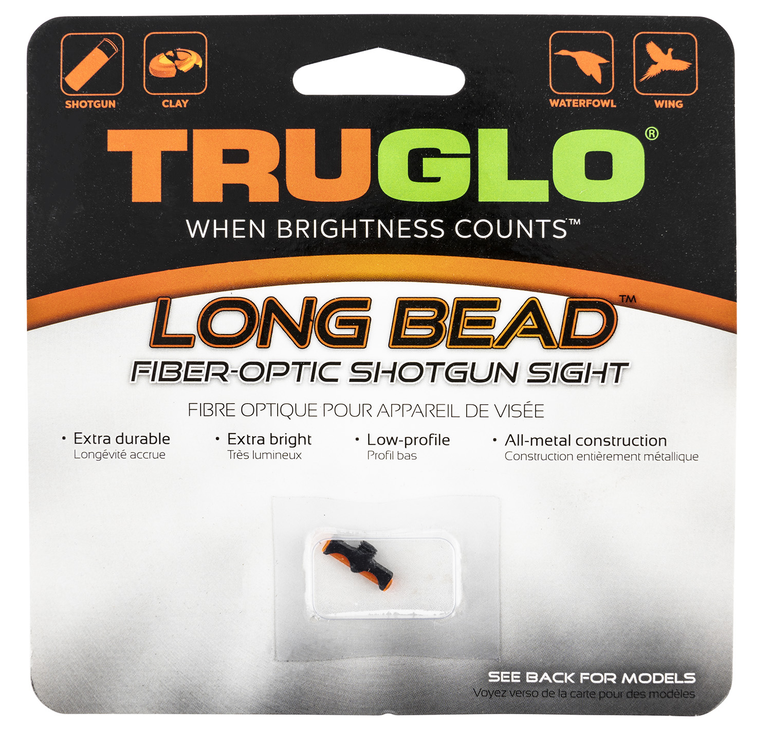 Truglo TG947BRM Long Bead Shotgun Sight Ruger & Winchester Red