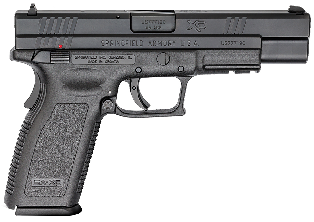 Springfield XD9664 XD DAO 45ACP 5″ 10+1 Polymer Black Thumb Safety