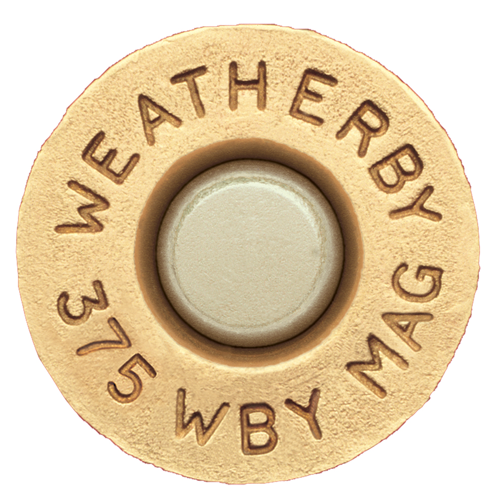 Weatherby BRASS375 Unprimed Brass 375 Weatherby Magnum Lightweight 20 Per Box