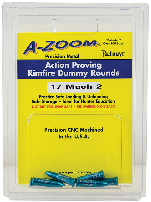 Azoom 12204 22 Rimfire Proving Training Rounds Snap Caps 22 Magnum 6PK