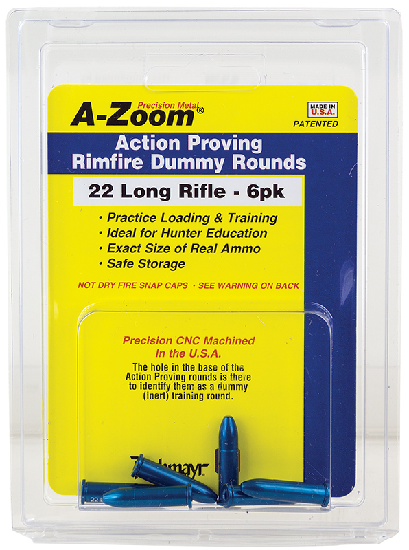 Azoom 12208 22 Rimfire Proving Training Rounds Snap Caps 22 Long Rifle 6PK