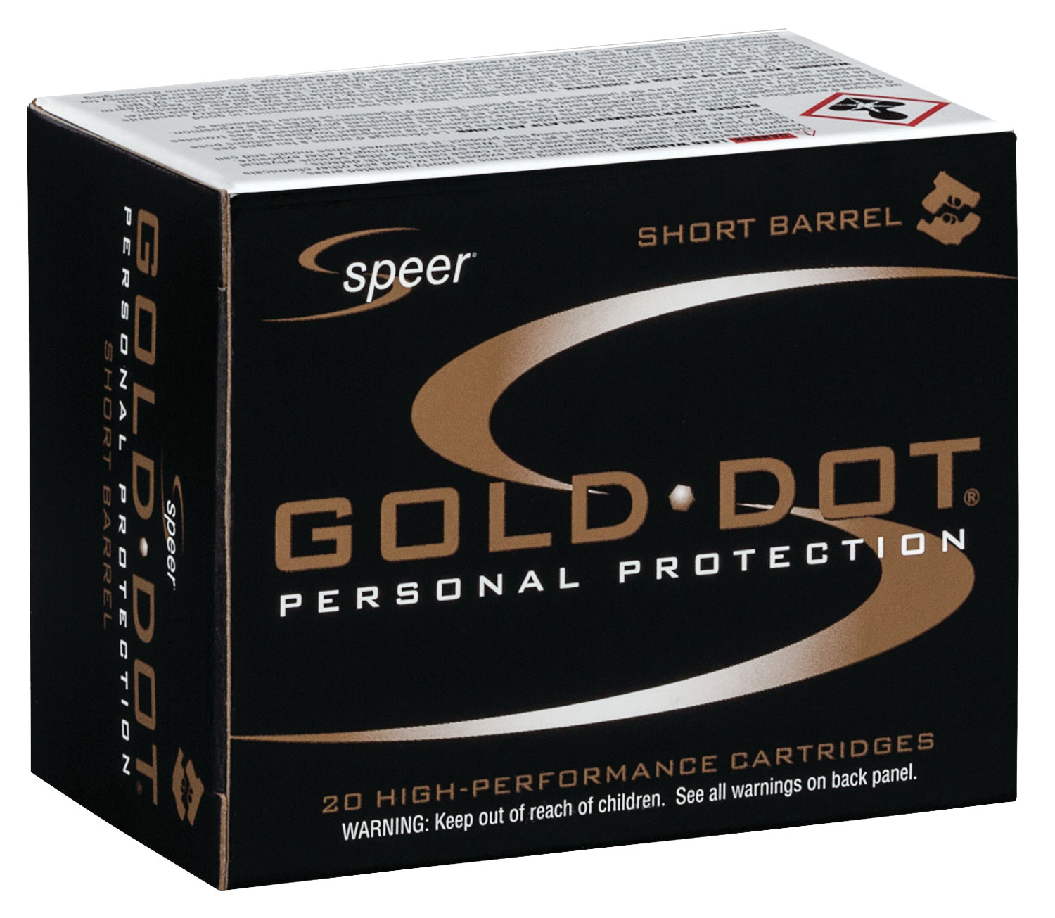 CCI 23917 Gold Dot 357 Rem Mag Gold Dot Hollow Point 135 GR 20Rds