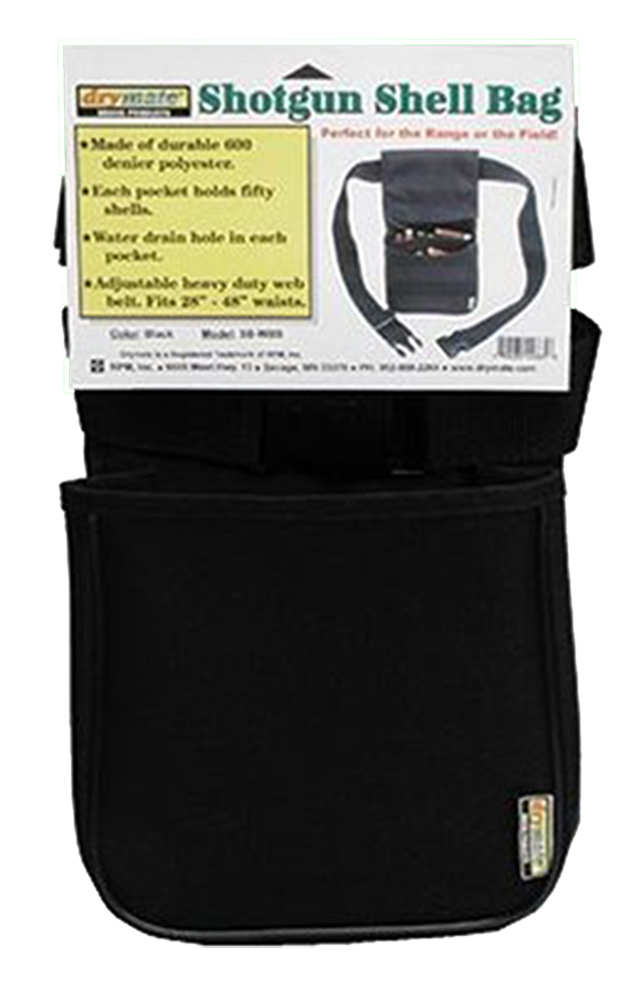 Drymate SBWBB 2 Pocket Shell Bag w/NEF Logo Poly/ Web Belt Black