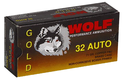 Wolf G32FMJ1 Gold 32 Automatic Colt Pistol Full Metal Jacket 71 GR 50Box/60Case