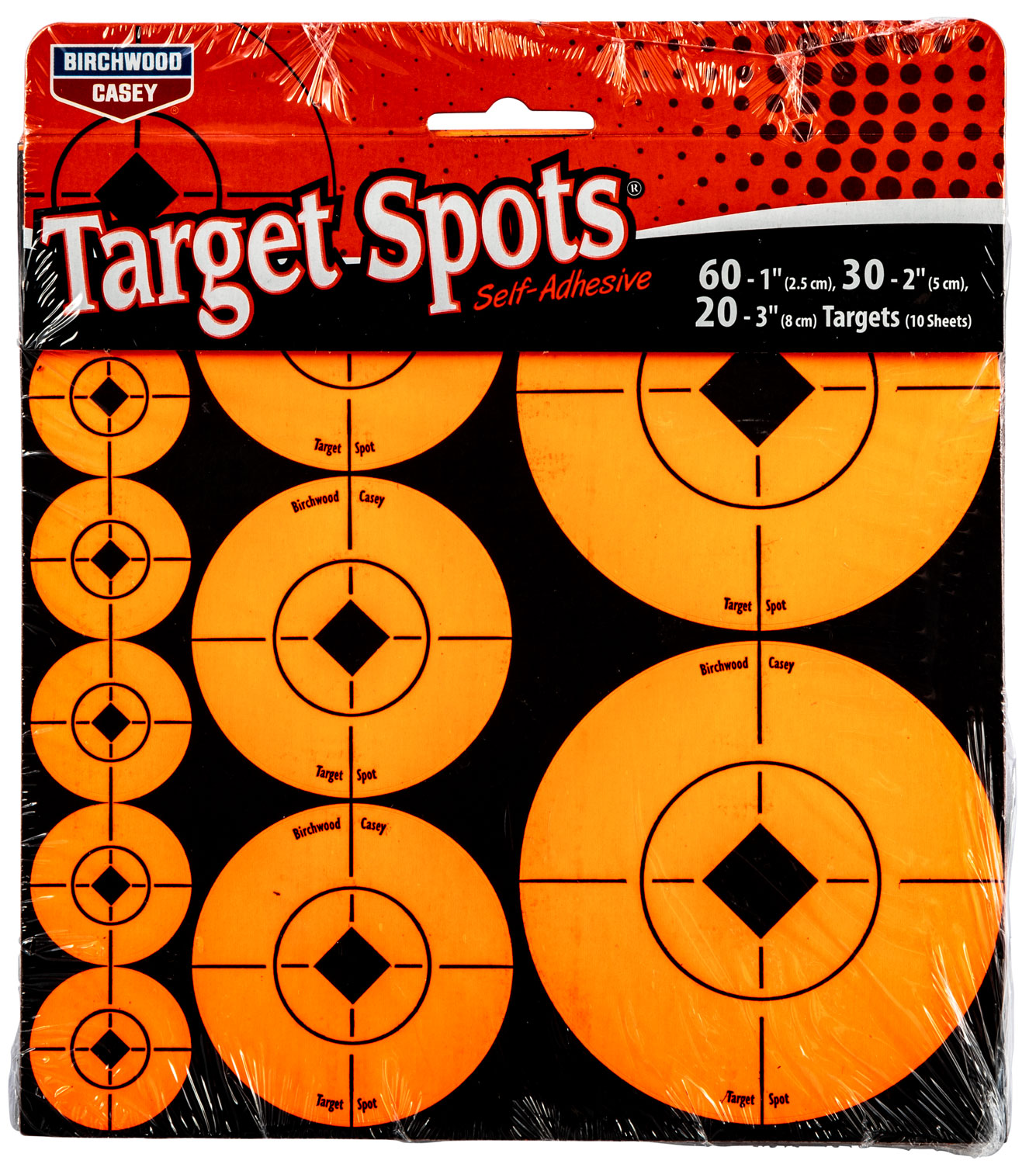 "Birchwood Casey 33928 Target Spots Assortment 72-1""/36-2"""