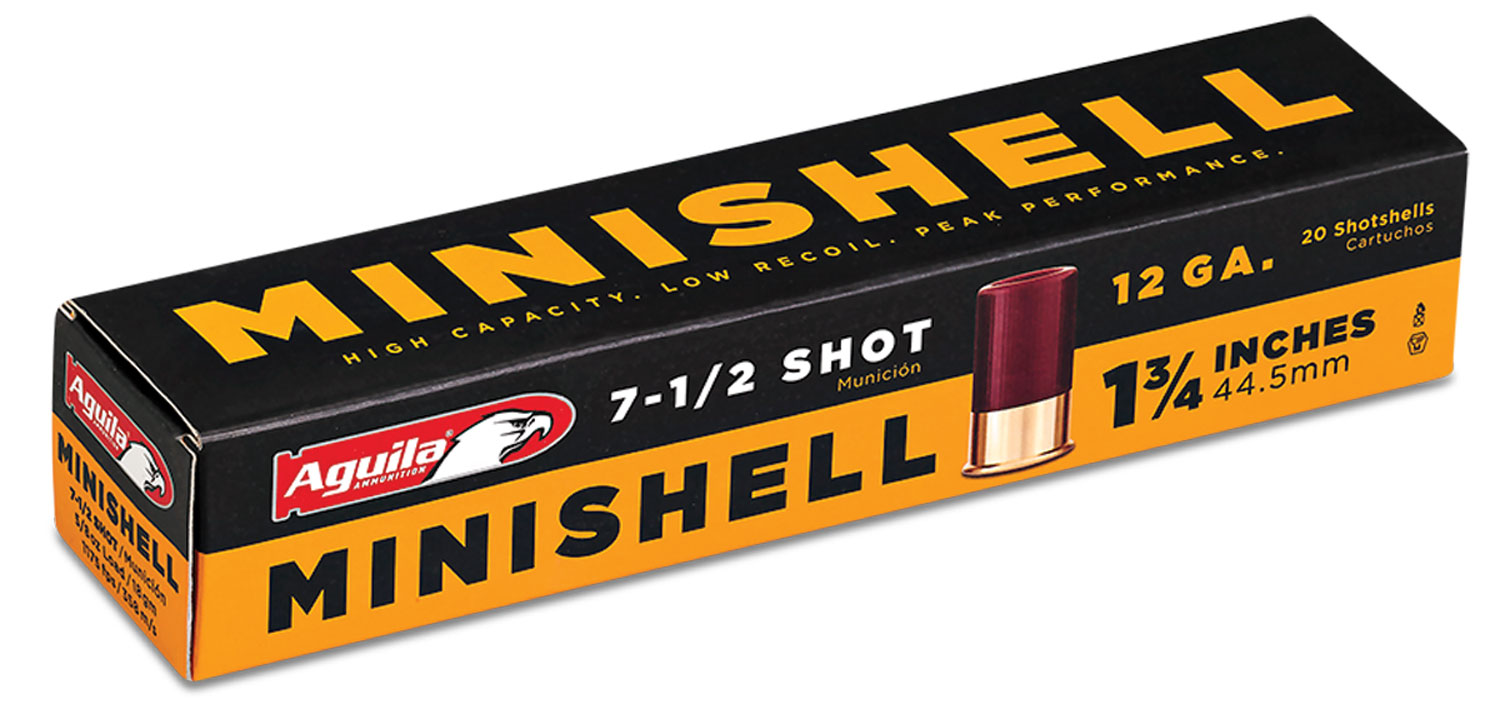 Aguila 1C128968 Minishell 12 ga 1-3/4 5/8 oz 7-1/2 Shot 20 box