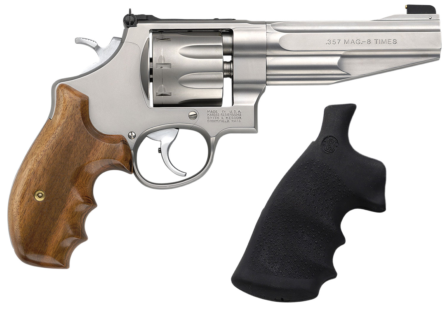 S&W M/627 PERFORMANCE CENTER 357MAG  5 inch 8 ROUND WOOD and SYNTHETIC GRIP 170210