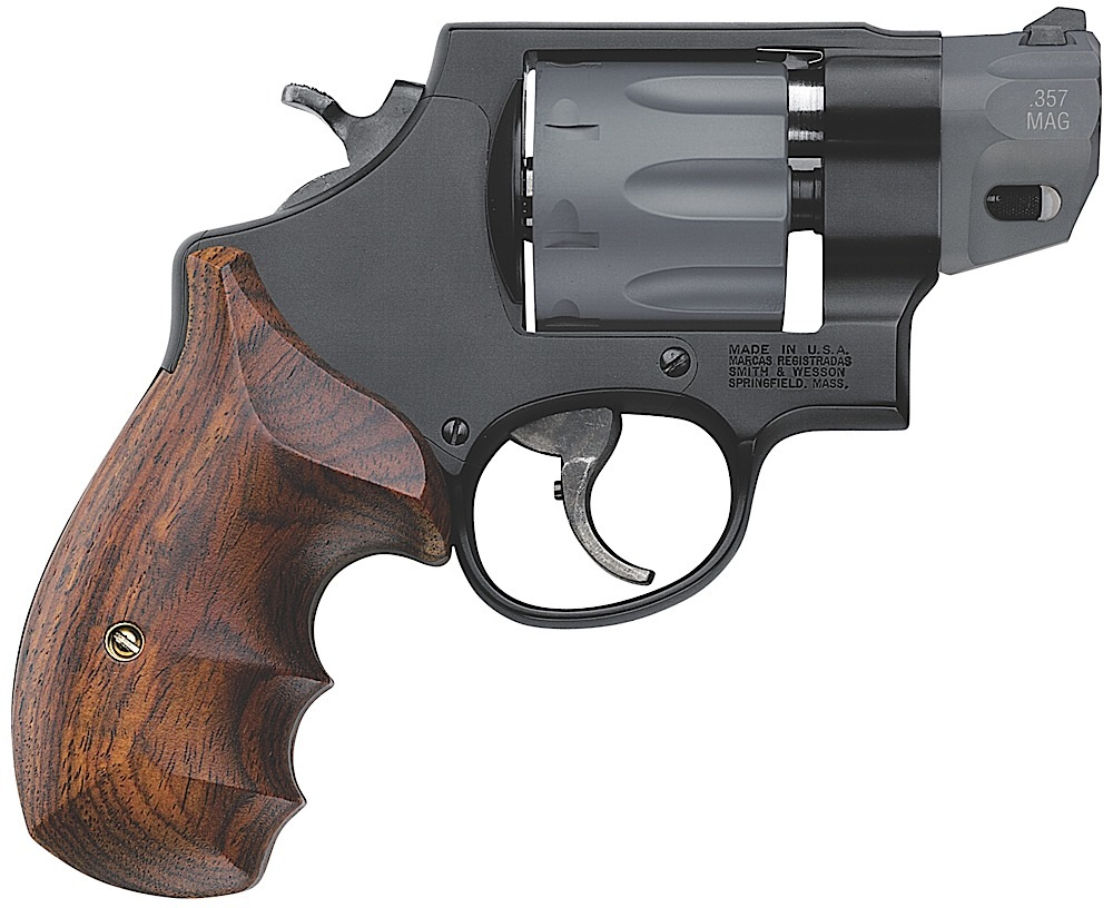 S&W M/327 PERFORMANCE CENTER 357MAG  2 inch WOOD GRIP 170245