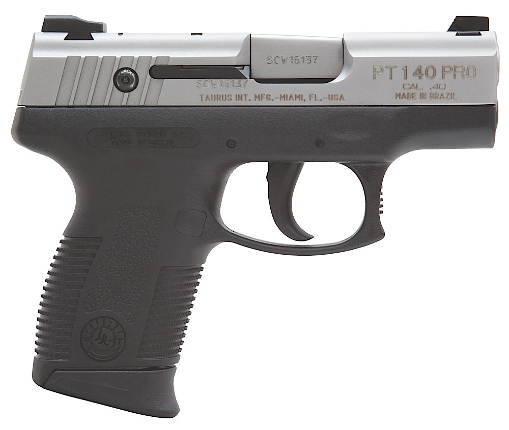 Taurus 1140039P Model 140 MillPro 40 S&W 3.25″ 10+1 Poly Grip Stainless Finish