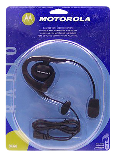 Motorolla 56320 Earpiece with Boom Mic for 2-Way Radios