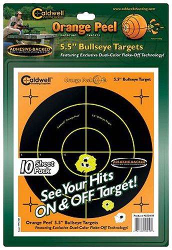 "Past 550010 Orange Peel Bullseye Targets 5.5"" Blk/Grn Org/Wht 10ct"
