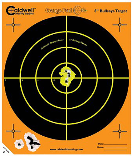 "Past 805645 Orange Peel Bullseye Targets  8"" Blk/Grn Org/Wht 5ct"