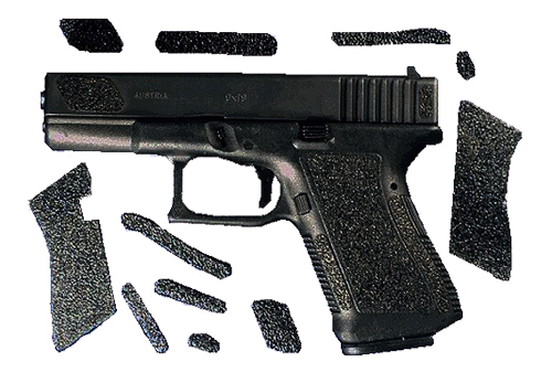 Decal Grip G20S For Glock 20/21 Grip Decals Blk Sand Texture Pre-cut Adhesive Pi
