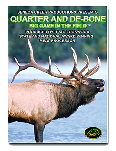 Outdoor Edge QD101 Quarter/Debone Big Game In The Field Instructional DVD CD-Rom